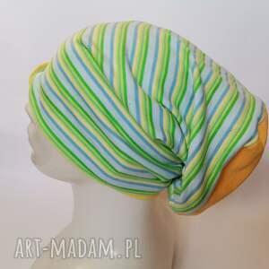 ręczne wykonanie czapki czapka wiosenna sportowa smerfetka rozmiar uniwersalny polecam