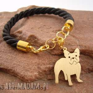 Bransoletka buldog francuski pies nr.63, bransoletka, pies, rasy-psów, rękodzieło