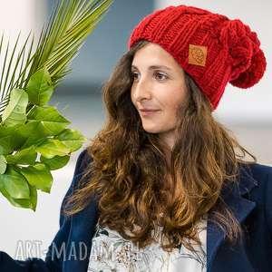 czapki endorfina chili pepper, czerwona, czapka, zimowa, wełna, wełniana