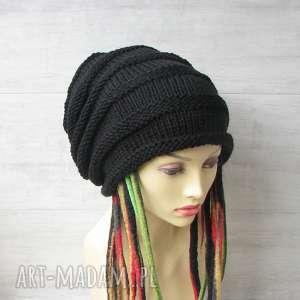 hand made czapki super slouchy oversize dla osób z dredami