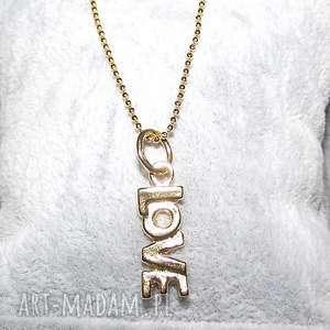 naszyjniki naszyjnik love cudny, love, miłość, walentynki, łańcuszek, celebrytka