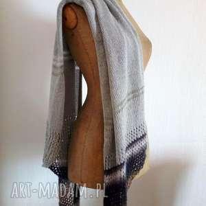 Prezent zwiewny szal, prezent, wełniany, na-drutach, szalik, chusta