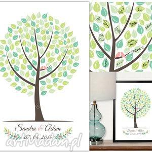 Plakat wpisów gości - Wesele, ślub, urodziny 50x70 cm, księga, gości, plakat, drzewo