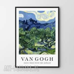 van gogh olive trees with the alpilles - plakat 30x40 cm, plakat, plakaty
