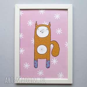 Grafika z wiewiórką Klarą A4, wiewiórka, obrazek, grafika, zabawny