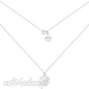 srebrny naszyjnik z ażurową rozetką sotho - zawieszka, kobiecy