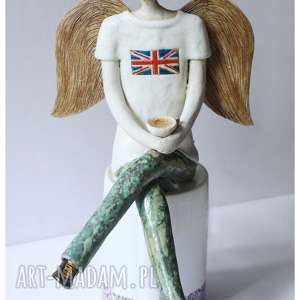 ceramika anioł stróż nauczyciela od angielskiego, ceramika, anioł, nauczyciel