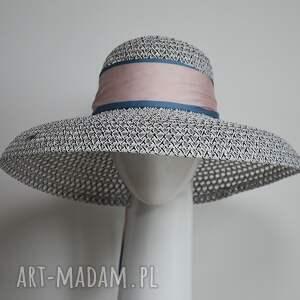 oryginalne prezenty, fascynatory kapelusz audrey, kapelusz, letni, jedwab
