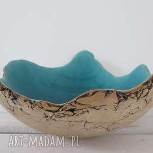 dekoracje sardynia artystyczna miska, miska ceramiczna, turkusowa