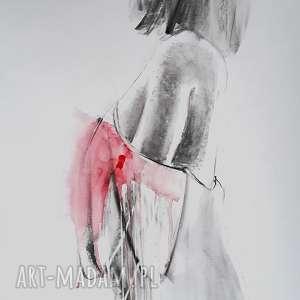 red, obraz-z-czerwienią, czerwona-dekoracja, kobieta-grafika, kobieta-plakat