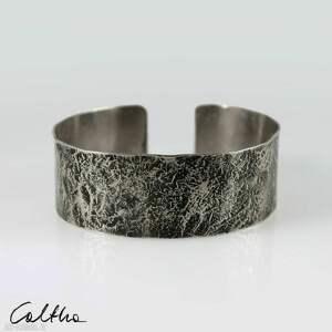 kamień - metalowa bransoleta 2 cm 200611-02, bransoletka, bransoleta