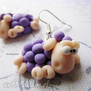 handmade kolczyki słodkie owieczki