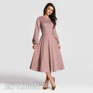 Sukienka aniela total midi melanż brudny róż sukienki livia clue