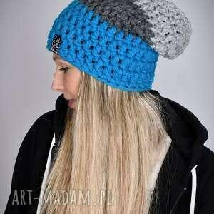 czapka triquence 22 - niebieska, zimowa, na zimę, czapki, kolorowa