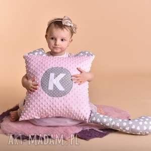 Prezent Poduszka personalizowana z literką, poduszka-dziecięca, maskotki-hand-made