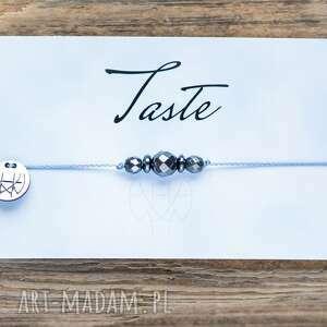 bransoletki whw taste hematites iii, sznurkowa, sznureczkowa, delikatna, makrama