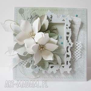 scrapbooking kartki z odrobiną mięty - w pudełku, imieniny, urodziny, ślub