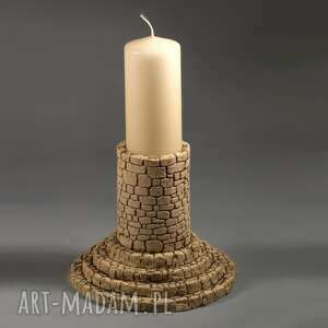 świecznik, lampion kolumnowy kamienny, lampion, szamot, dekoracja