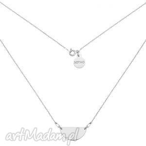 srebrny naszyjnik z półokrągłą - minimalistyczny