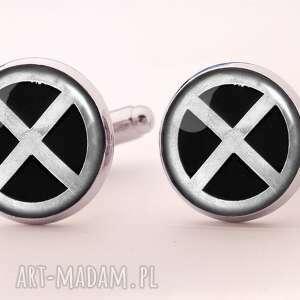 ręcznie robione spinki do mankietów x-men - spinki do mankietów