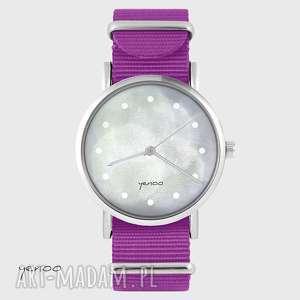 ręcznie wykonane zegarki zegarek - szary amarant, nato