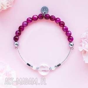 WHW High - Raspberry Lips, dwustronna, kamienna, kamienie, kryształ-górski, hematyt,