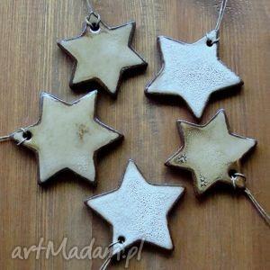 ceramika rustykalne gwiazdki, gwiazdy, śnieżynki, zawieszki