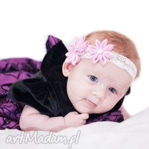 hand made ozdoby do włosów opaska dla dziewczynki z kwiatuszkami