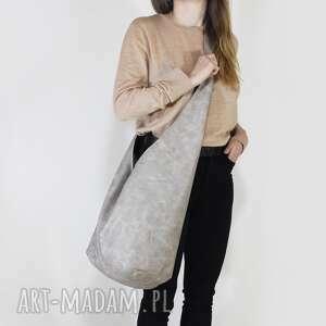 na ramię long boogi bag - torba w stylu boho do noszenia przez ramię, beżowa