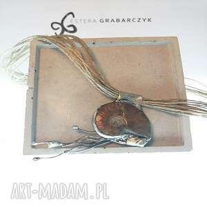ślimak pokaż rogi-wisior amonit, wisior oryginalny wisior, biżuteria