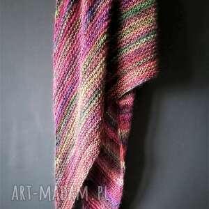 unikalne, kolorowa duża chusta, szal, nadrutach, zimowa, prezent