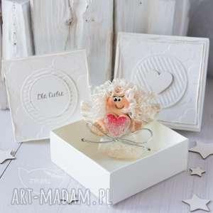 kartki aniołek stróż z kartką w mini pudełeczku przeurocza alternatywa