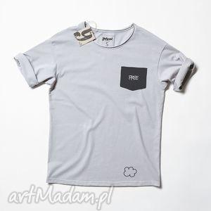 FREE POCKET tshirt unisex, kieszona, napis, napisem, druk, oversize, unisex