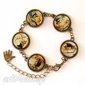 hieroglify - bransoletka - biżuteria, antyczna prezent, egipt