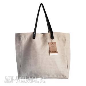 na ramię torba konopna slow, lato, ekologiczna, konopie, ecru, beżowa