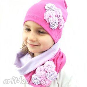 hand-made czapki opaska z kominem dla dziewczynki