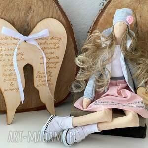 hand made lalki anioł pamiątka pierwszej komunii świętej chrztu