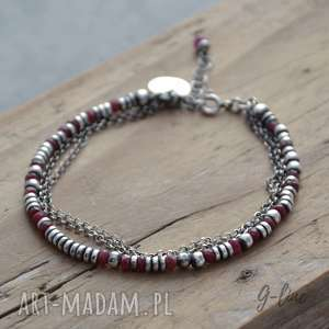 Rubinowa bransoletka, rubin, rubinowa, srebro