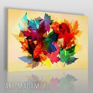 obraz na płótnie - liście kolorowy 120x80 cm 71601, liście, kolorowy, natura, liść