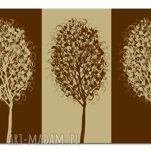 obraz xxl drzewo 11 -120x70cm design na płótnie brąz beż, drzewo, design
