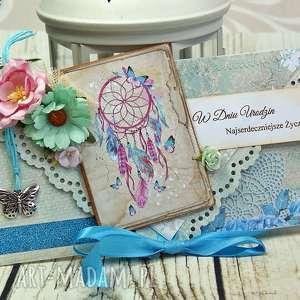 Kartka urodzinowa- dreamcatcher, urodziny, urodzinowa, kartka, łapacz, snów,