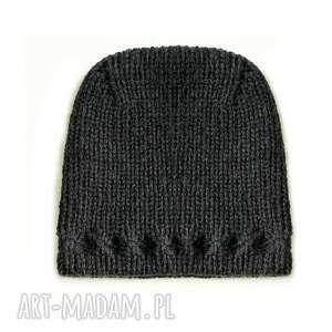 czapki czapka z uniesioną górą, wełniana, unisex, gwiazdkowy, dziergana, prezent