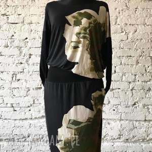 Flower power-sukienka, sukienka-codzienna, minimalistyczna, klasyczna-sukienka