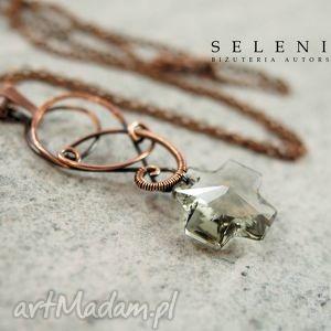 pod choinkę prezenty, cross, wire, wrapping, miedź, swarovski, kryształ