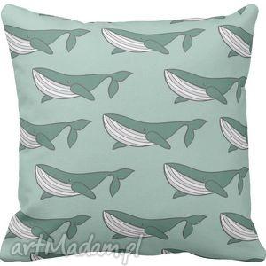 Poszewka na poduszkę dziecięca marynistyczna morska marynarska wieloryb 3054