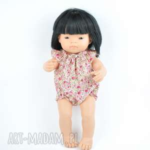 Romper Miniland różyczki, lalki, hiszpańskie, ubranka, 38cm