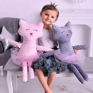 Przytulanka kot minky maskotki ateliermalegodesignu poduszka kot