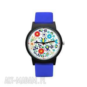 zegarki zegarek z silikonowym paskiem kaszubski, folklor, kaszuby, ludowy