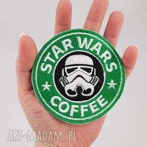 naszywka coffee, naszywka, star, kawa, ozdoba, haft