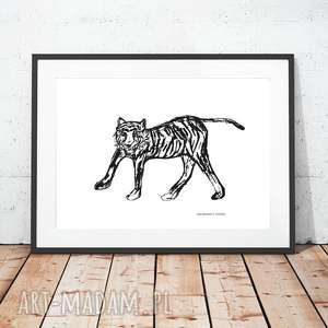 plakaty tygrys plakat, plakat z tygrysem, minimalizm skandynawski